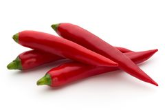 Red chilli pepper isolated on a white background. Red chilli pepper isolated on a white background Stock Photo