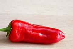 Red chilli pepper 'capsicum annuum' Stock Images