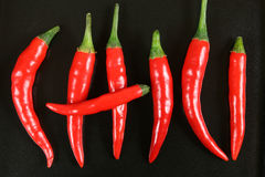 Red chilli peppers. Stock Photo