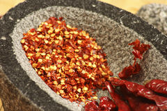 Red Chilly Flakes Royalty Free Stock Photo