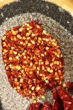 Red Chilly Flakes Royalty Free Stock Photos