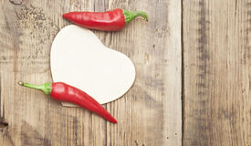 Red chilly peppers Stock Photos