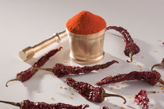 Red Chilly powder. Stock Images