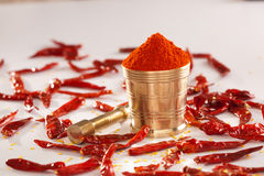 Red Chilly powder. Stock Photos