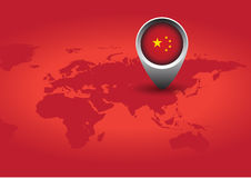 Red China flag Stock Photos