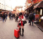Red Chinatown London Style stock photography