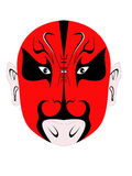 Red Chinese Devil Mask. A Chinese devil mask illustration Royalty Free Stock Image