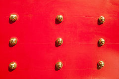 Red Chinese door Stock Photo