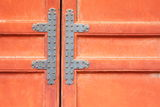 Red chinese door Royalty Free Stock Image