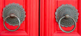 Red chinese door Royalty Free Stock Photography