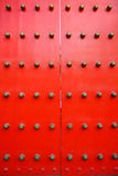 Red chinese door - vertical Royalty Free Stock Photos