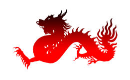 Red chinese dragon, Symbol of the year Stock Photography