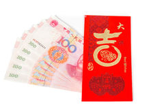 Red chinese envelopes with money Stock Photos