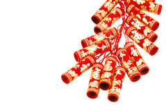 Red Chinese fire crackers Stock Images