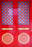 Red Chinese gate Royalty Free Stock Photography