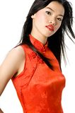Red Chinese dress Royalty Free Stock Photos