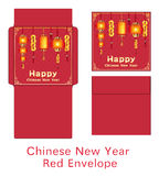 Red chinese happy new year envelope vectorred chinese happy new year envelope vector vector illustration