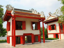Red chinese house Royalty Free Stock Photos