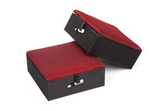 Red Chinese jewelry box Royalty Free Stock Images