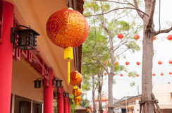 Red chinese lamp Royalty Free Stock Photo