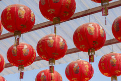 Red Chinese lantern in Chinese New Year. stock photography