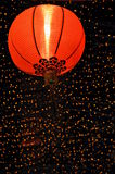 Red Chinese Lantern at Night Stock Images
