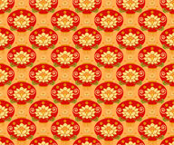 Red Chinese Lantern seamless pattern background. Traditional ornament. Stock Images