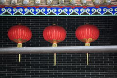 Red chinese lanterns Stock Photos