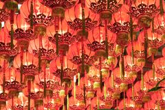 Red Chinese Lanterns Royalty Free Stock Image