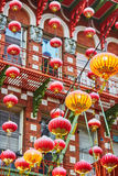 Red Chinese lanterns in Chinatown of San Francisco Royalty Free Stock Photos