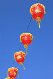 Red Chinese Lanterns decorate in Thaiand's Chinatown during the Royalty Free Stock Photo