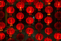 Red Chinese lanterns Royalty Free Stock Photos