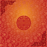 Red Chinese lotus wallpaper design Stock Image