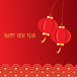 Red chinese new year Stock Photography