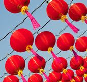 Red Chinese New Year Lanttern Stock Photo