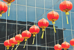 Red Chinese paper lantern Royalty Free Stock Image