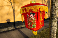 Red Chinese paper lantern Stock Images