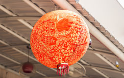 Red Chinese Paper Lanterns Royalty Free Stock Photo