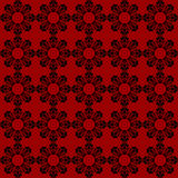 Red chinese pattern. Black chinese pattern on red background Stock Illustration