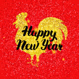 Red Chinese Rooster New Year Stock Image
