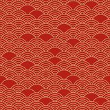 Red chinese seamless pattern. Vector illustration stock illustration