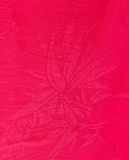 Red Chinese silk fabric surface Stock Images