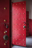 Red chinese temple door Stock Image