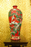 Red Chinese vase Royalty Free Stock Images