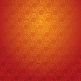 Red Chinese wallpaper Stock Photo