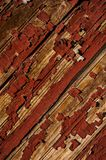Red Chipped Paint on Wood Texture - Newport Mill - Newport, Kentucky Royalty Free Stock Photos