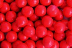 RED CHOCOLATE BALLS Stock Photo