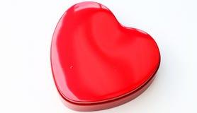 Red chocolate box shaped like a heart Royalty Free Stock Photo
