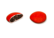 Red Chocolate candy Stock Image
