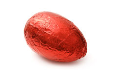 Red chocolate Egg Stock Photography